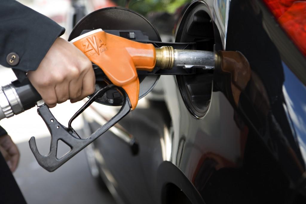 Orange diesel pump