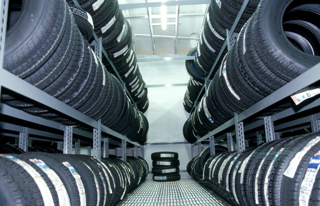 wall of tyres