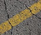 crack in road