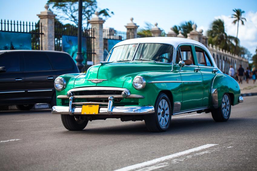 green amercian car