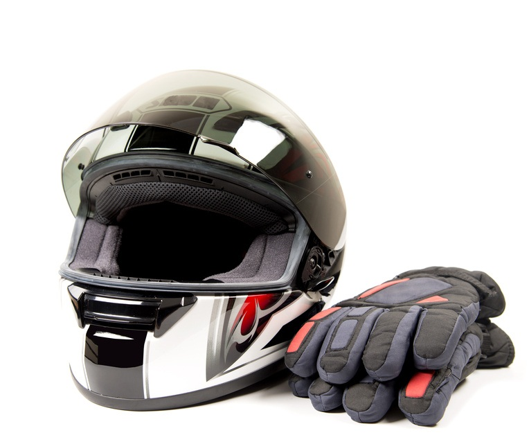 glove and helmet