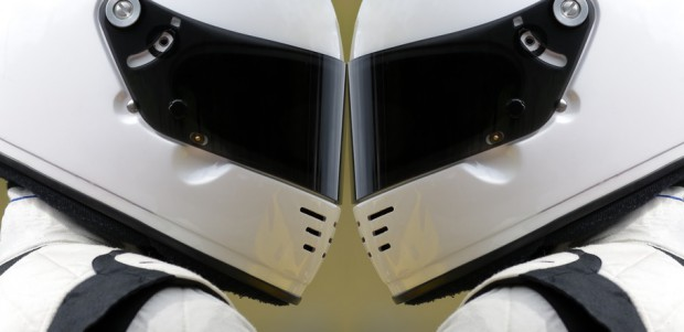 Racing drivers face to face