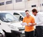 man checking van