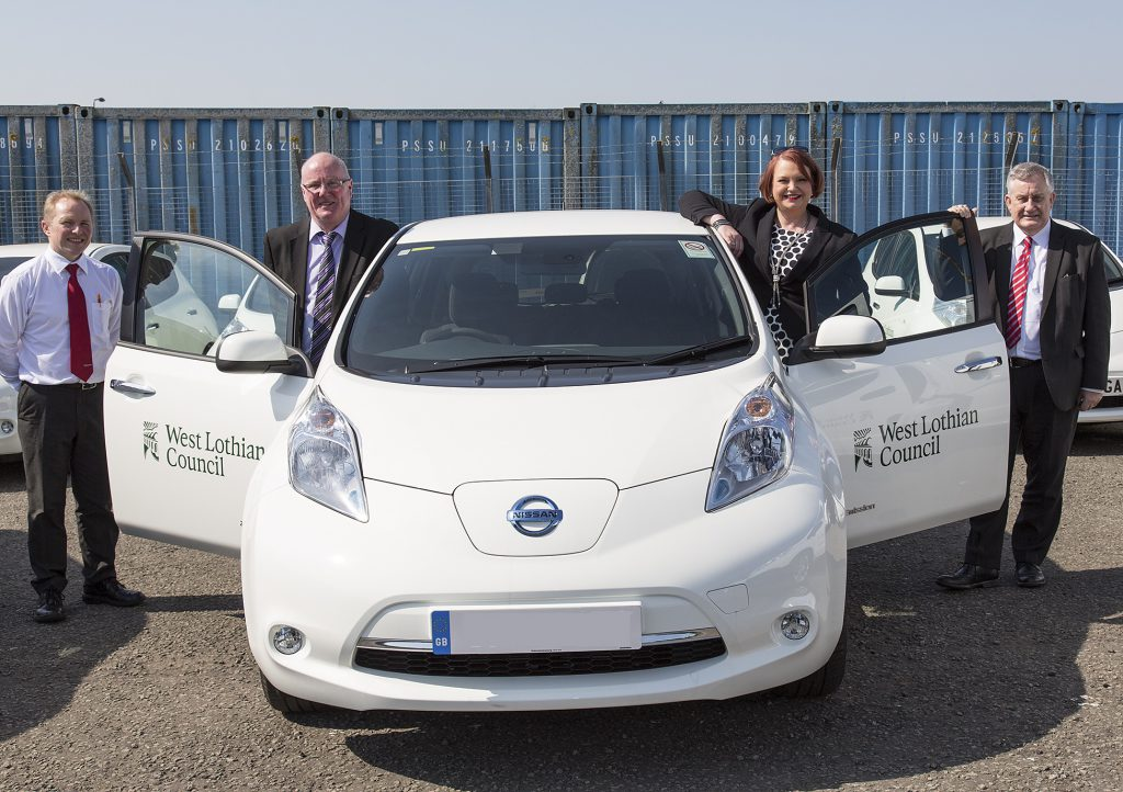 west lothian council with nissan leaf