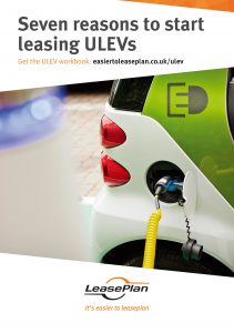 electric vehicle being charged with 7 reasons to lease ULEV