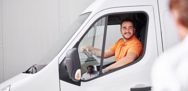 man in van LeasePlan