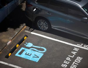 electric vehicle workplace charging bay