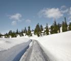 Low snow road