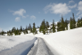 Low snow road