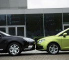 green car v black car